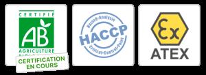 Normes BIO - HACCP - ATEX